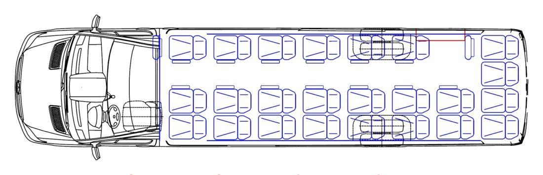 CUBY Bus Tourist Line (27 persons) No. 381